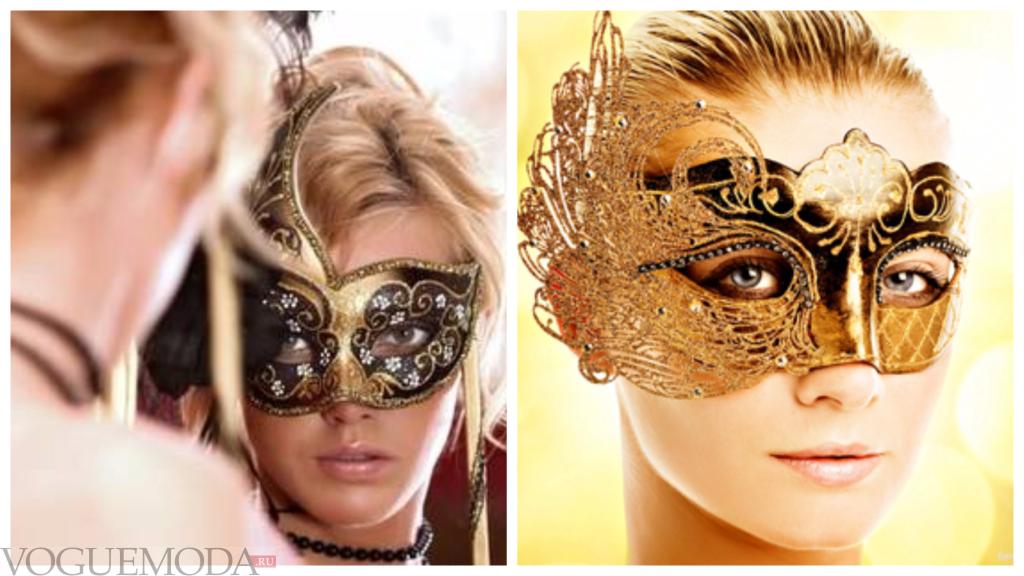 новогодние луки в масках для тематического корпоратива синий