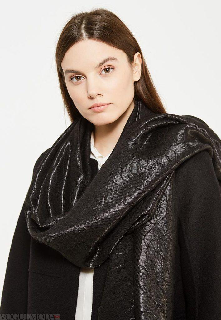 палантин с пальто блестящий