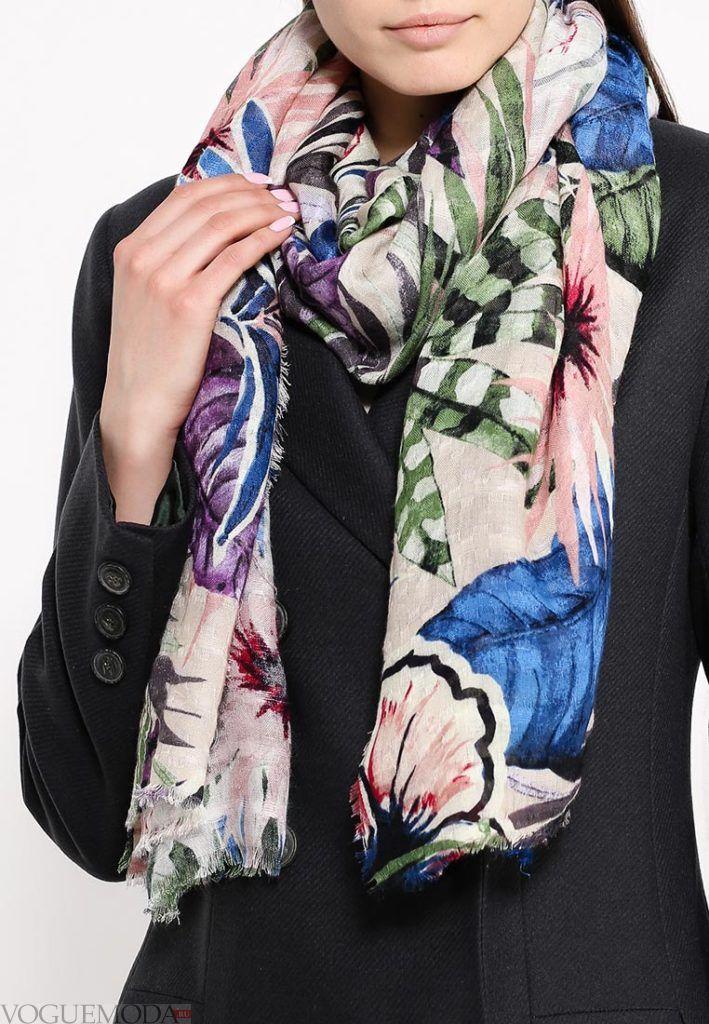 палантин с пальто разноцветный