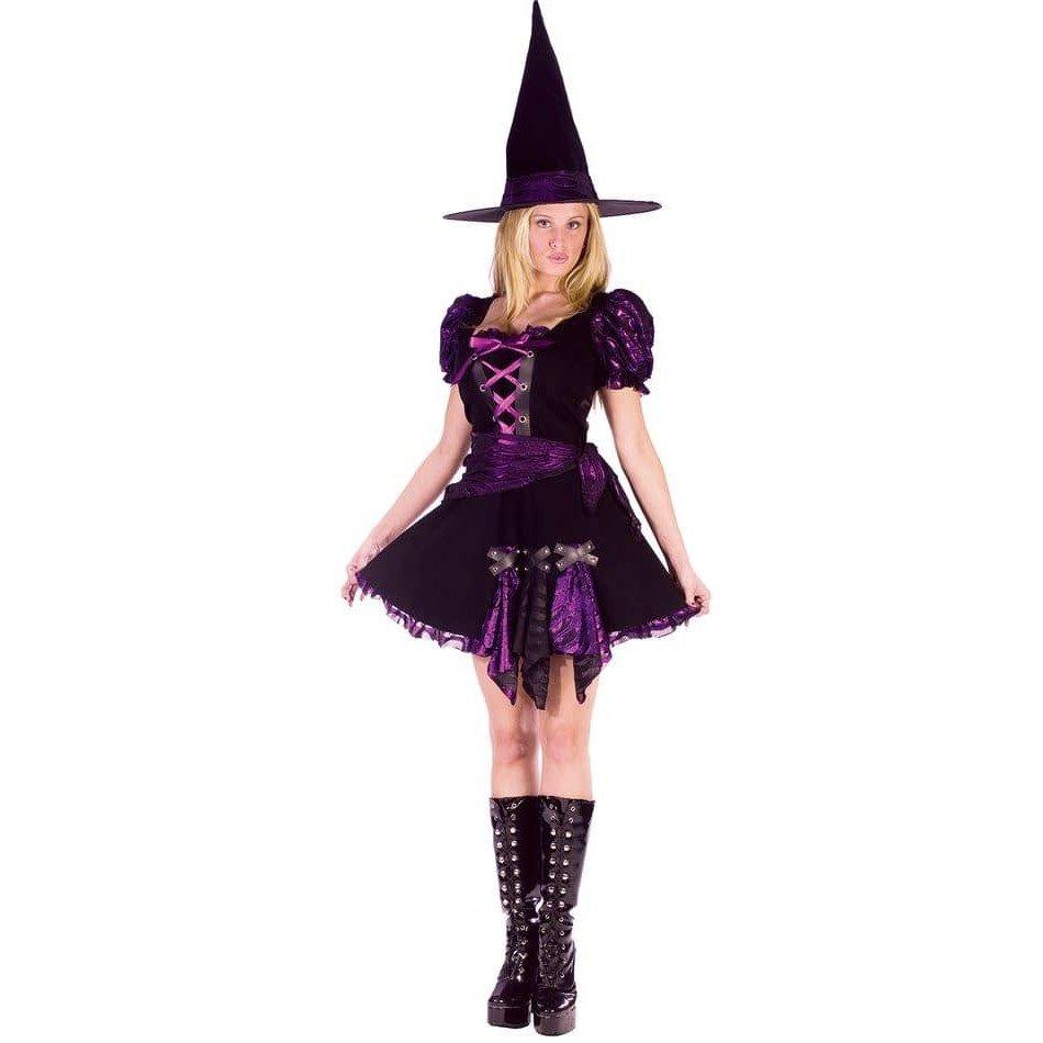 костюм ведьмы на хэллоуин фиолетовый