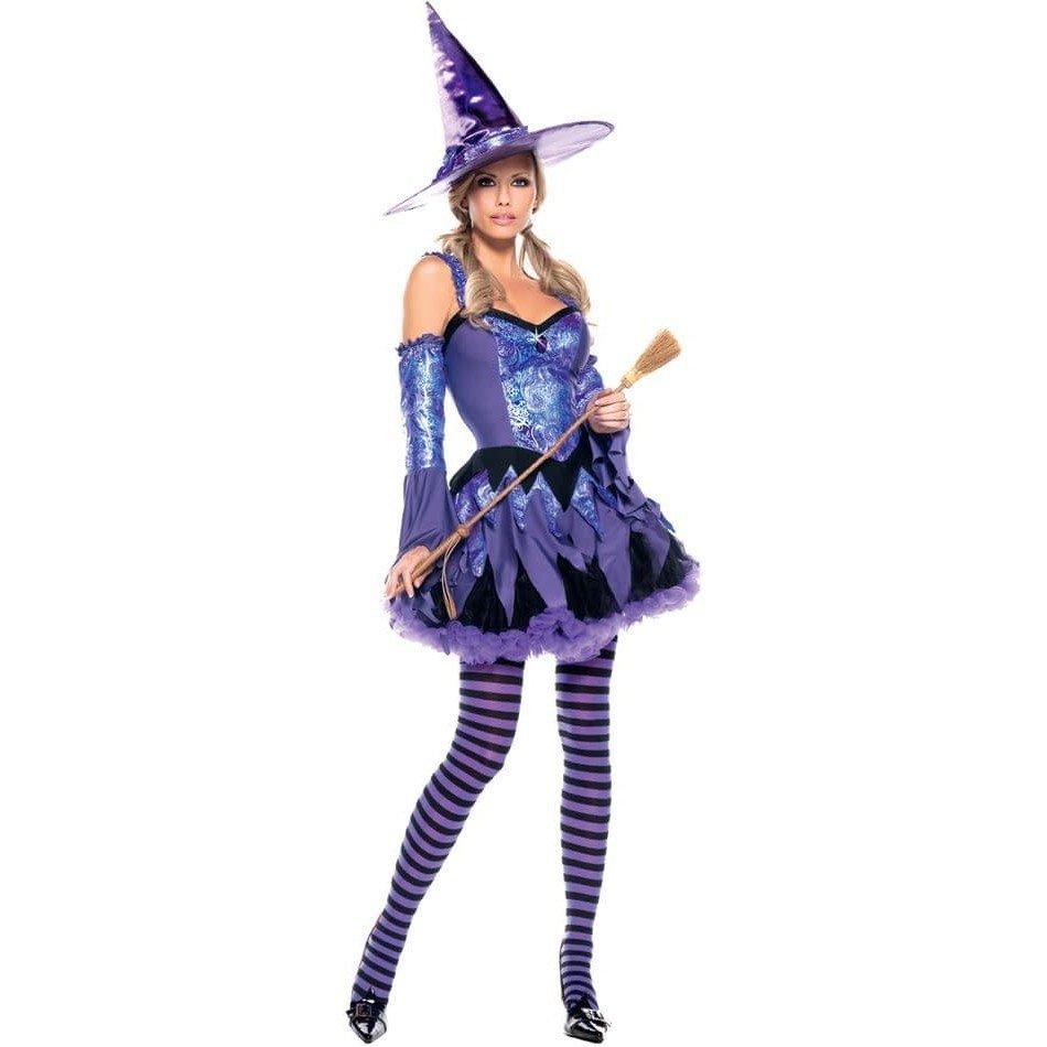 костюм ведьмы на хэллоуин синий