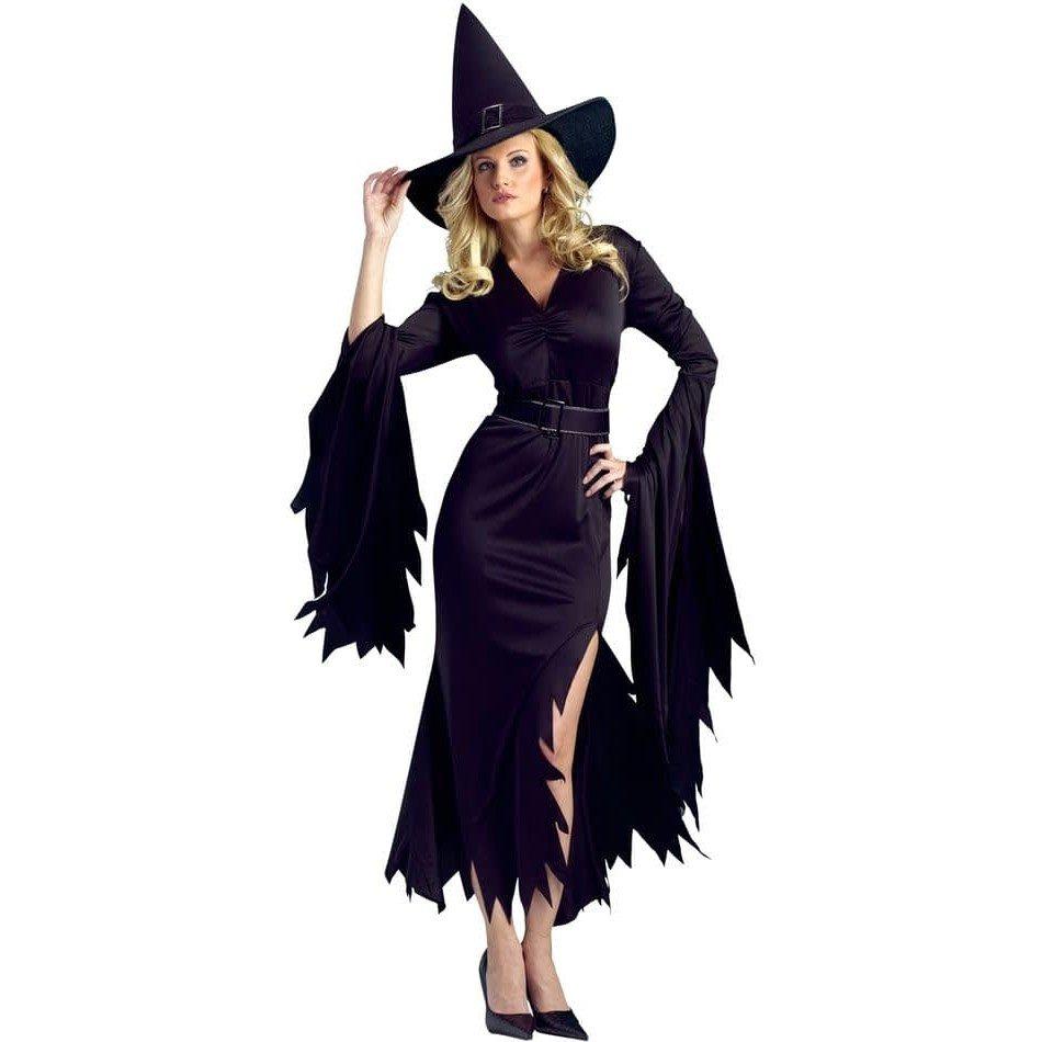 костюм ведьмы на хэллоуин с декором