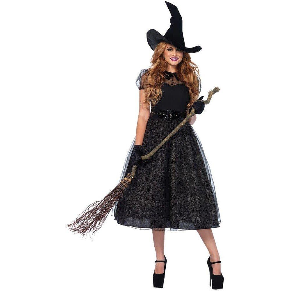 костюм ведьмы на хэллоуин с пышной юбкой