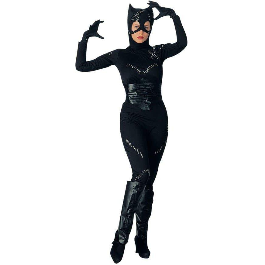 Костюм черной кошки на хэллоуин с сапогами