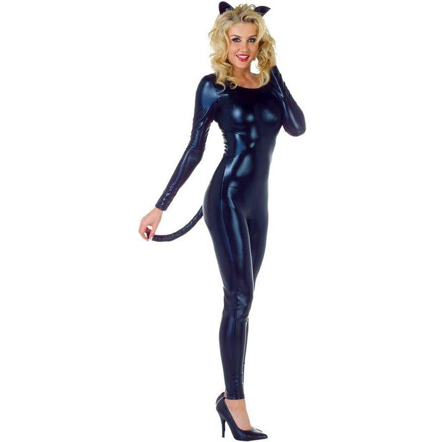 Костюм черной кошки на хэллоуин с туфлями