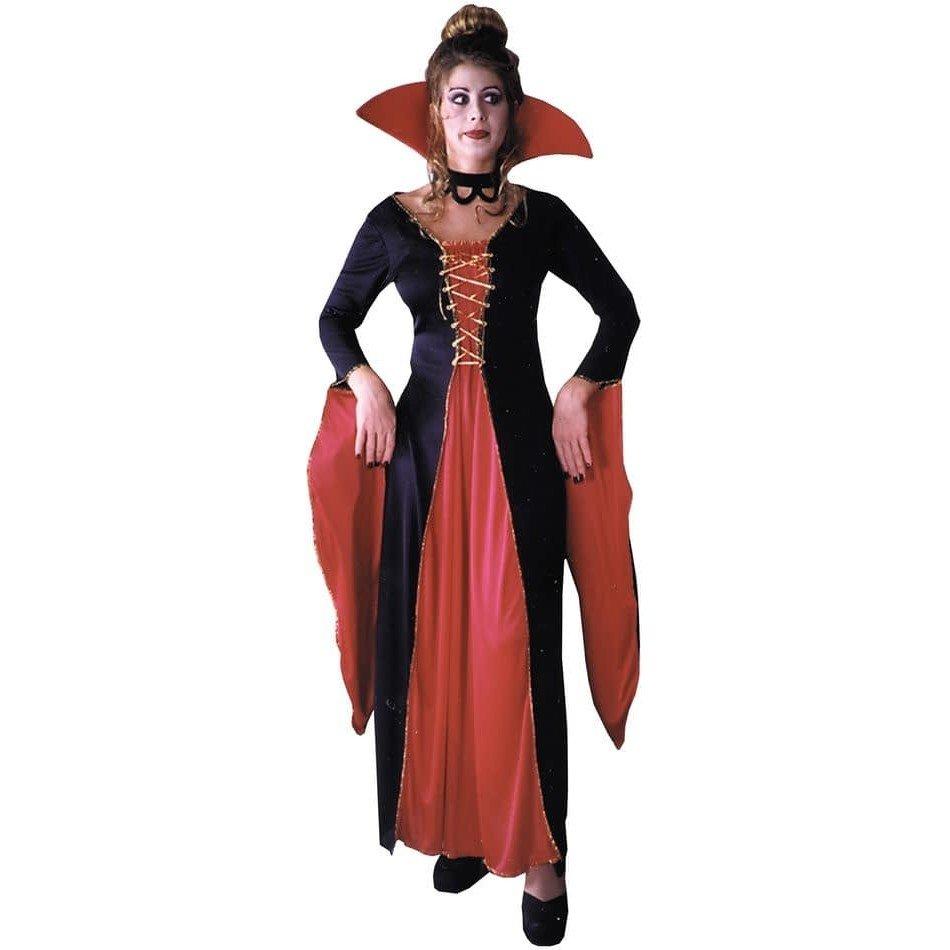 костюм вампирши на хэллоуин двухцветный
