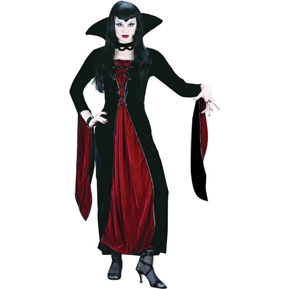 костюм вампирши на хэллоуин с декором