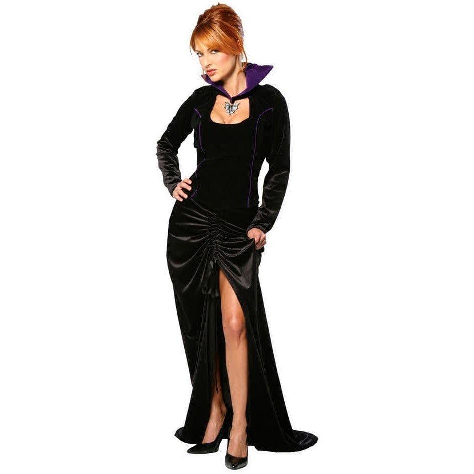 костюм вампирши на хэллоуин черный