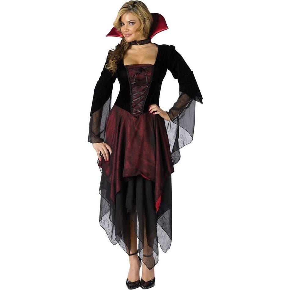 костюм вампирши на хэллоуин асимметричный