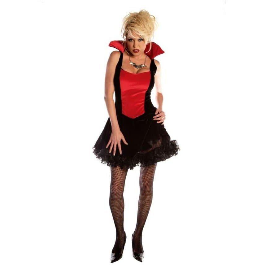 костюм вампирши на хэллоуин яркий