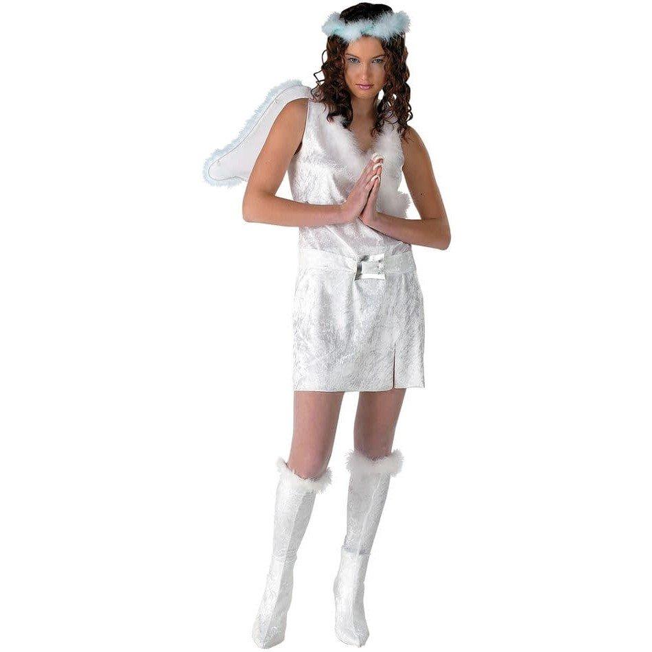 костюм ангела на хэллоуин короткий