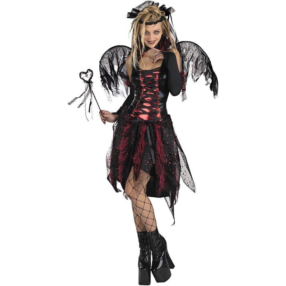 костюм ангела на хэллоуин черный