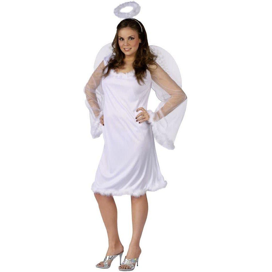 костюм ангела на хэллоуин белый