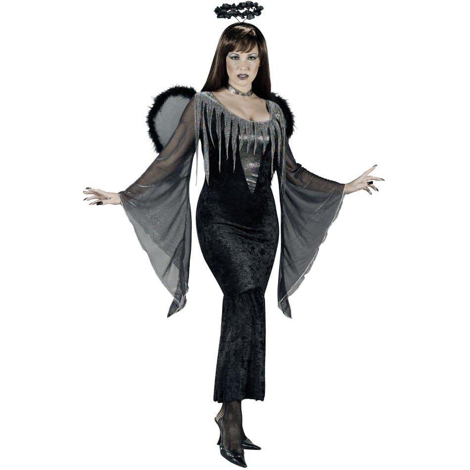 костюм ангела на хэллоуин с декором