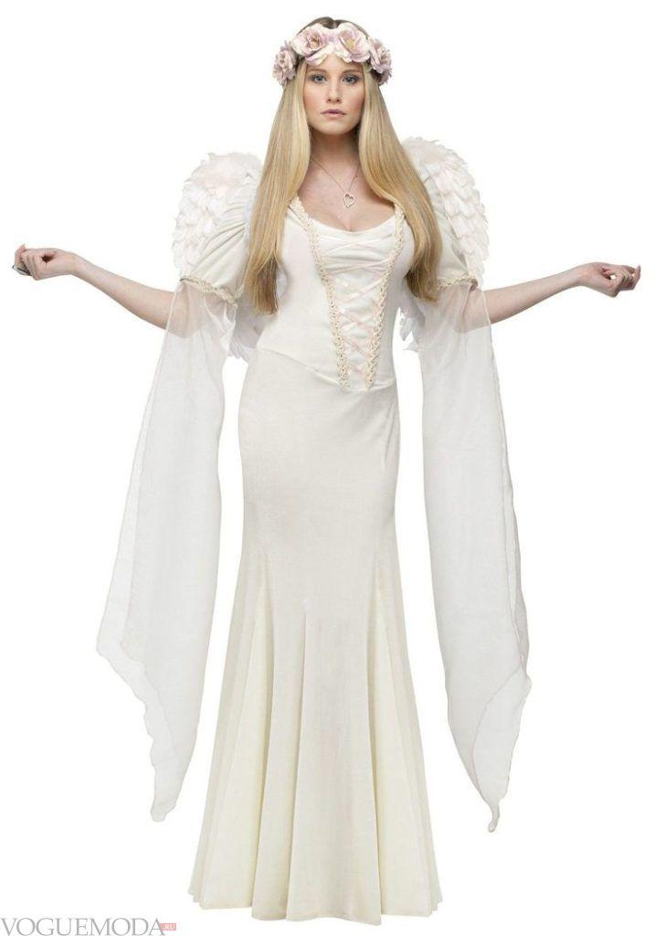 костюм ангела на хэллоуин светлый