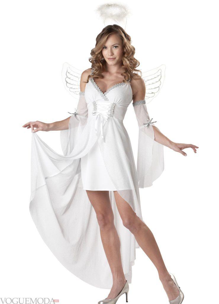 костюм ангела на хэллоуин с туфлями