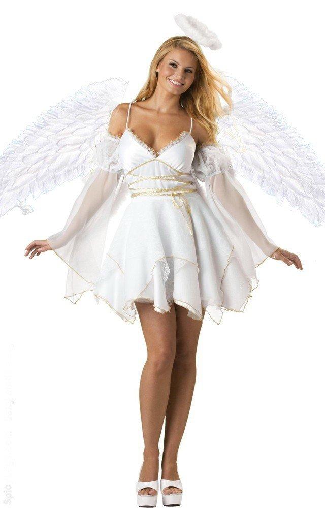 костюм ангела на хэллоуин с крыльями