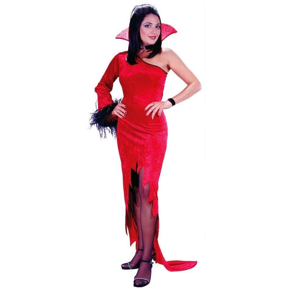 костюм дьяволицы на хэллоуин с разрезом