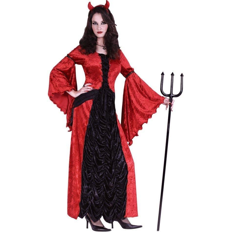 костюм дьяволицы на хэллоуин двухцветный