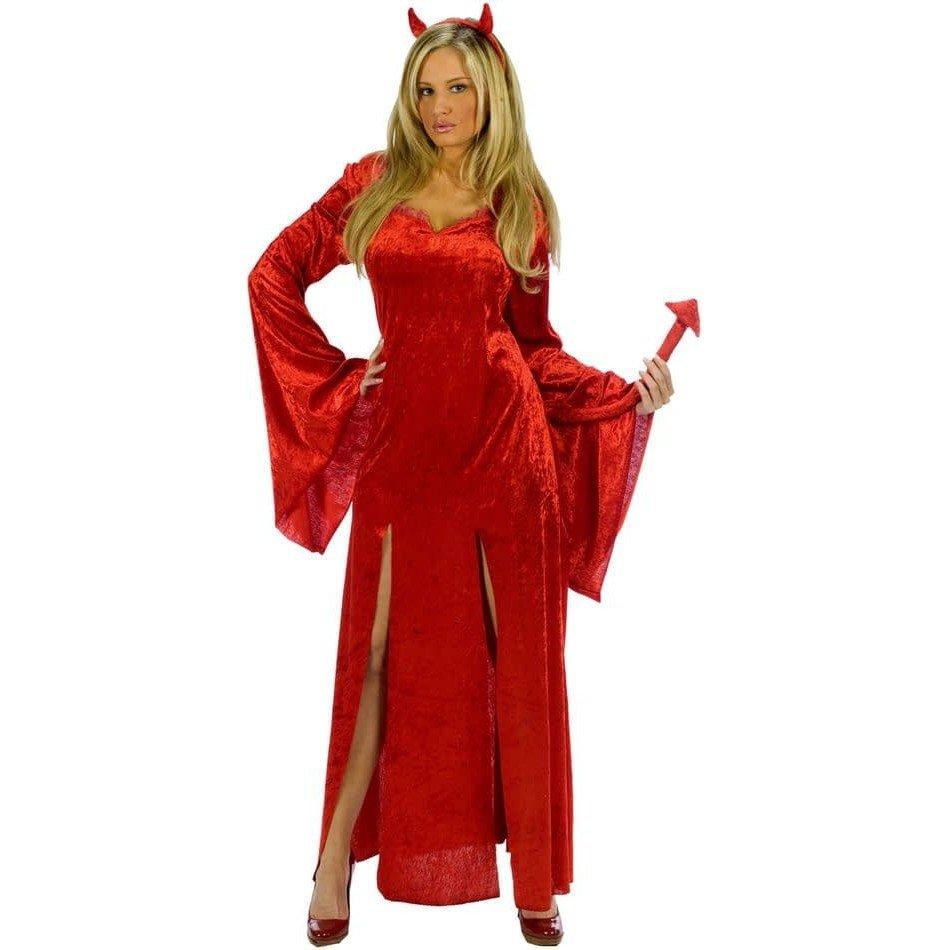 костюм дьяволицы на хэллоуин атласный