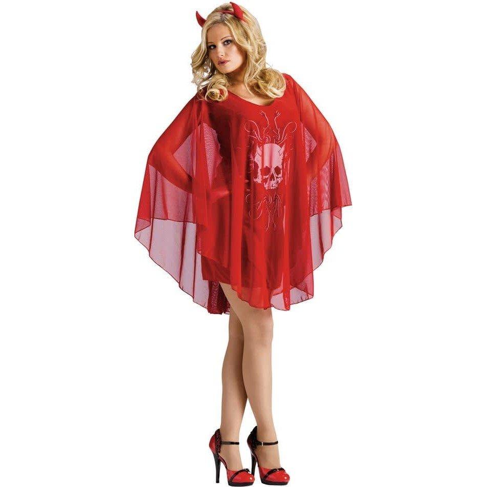 костюм дьяволицы на хэллоуин с изображением