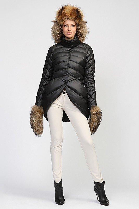 шапка с короткой курткой меховая