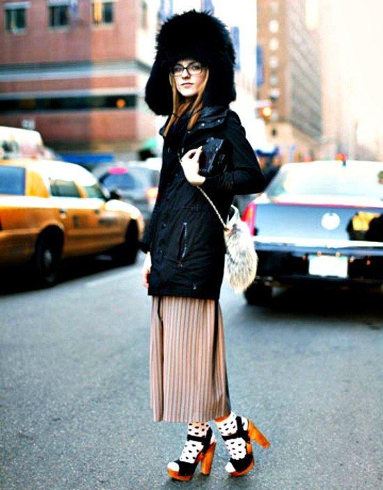 шапка с курткой средней длинны меховая