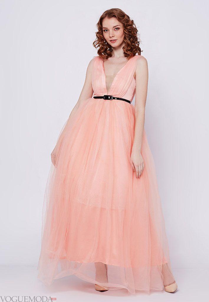коралловое платье с чем носить в пол из шифона с чем носить фото