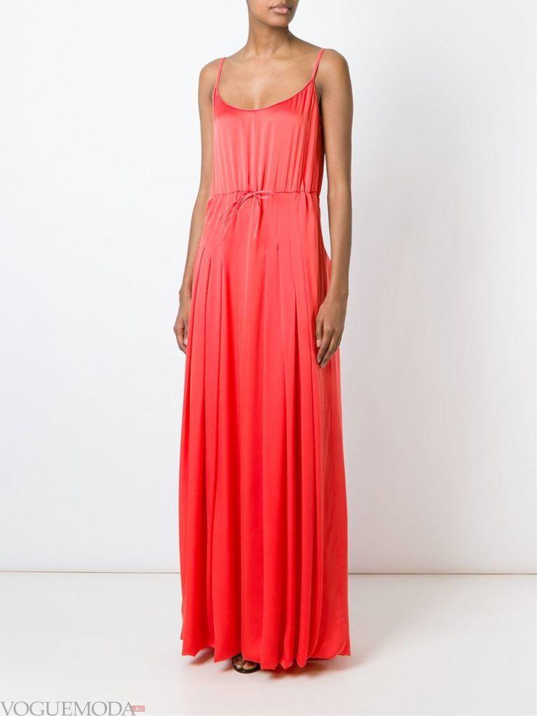 коралловое платье с чем носить в пол с поясом фото