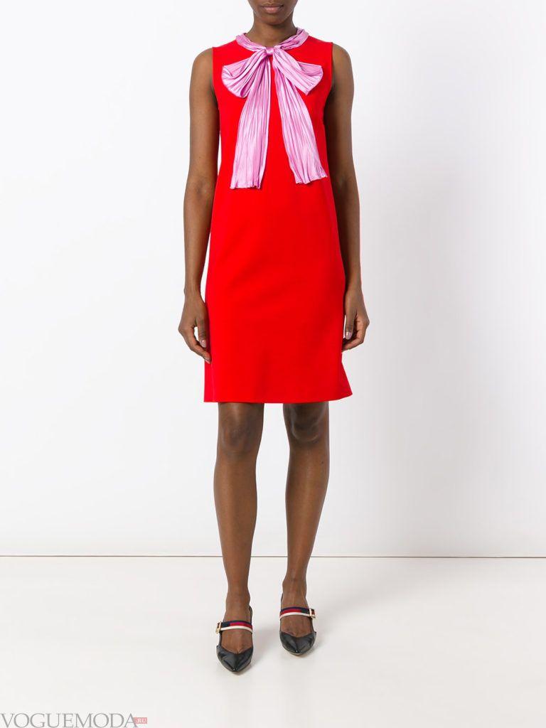 с чем носить коралловое платье с бантом фото