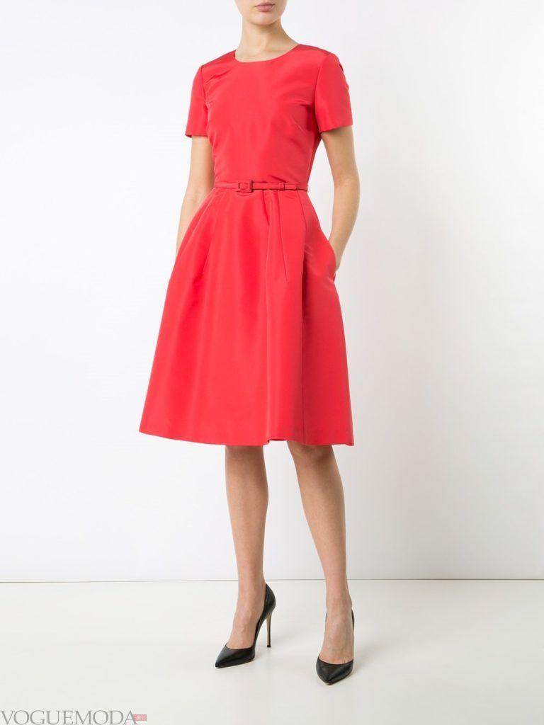 коралловое платье с чем носить с поясом фото