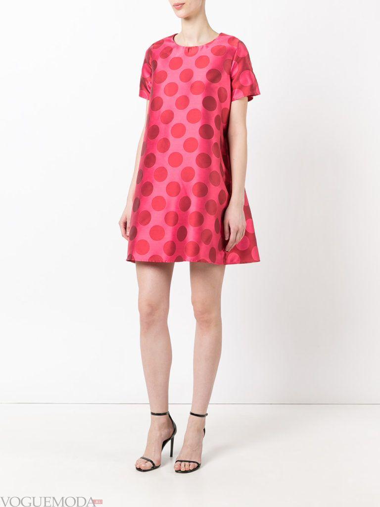 с чем носить коралловое платье в горошек фото