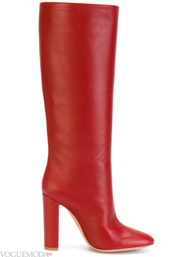 прямые жокейские красные сапоги яркие