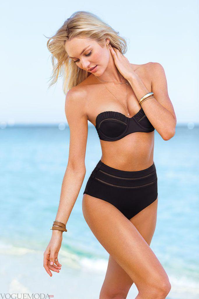 ретро купальник от Victoria's Secret черный
