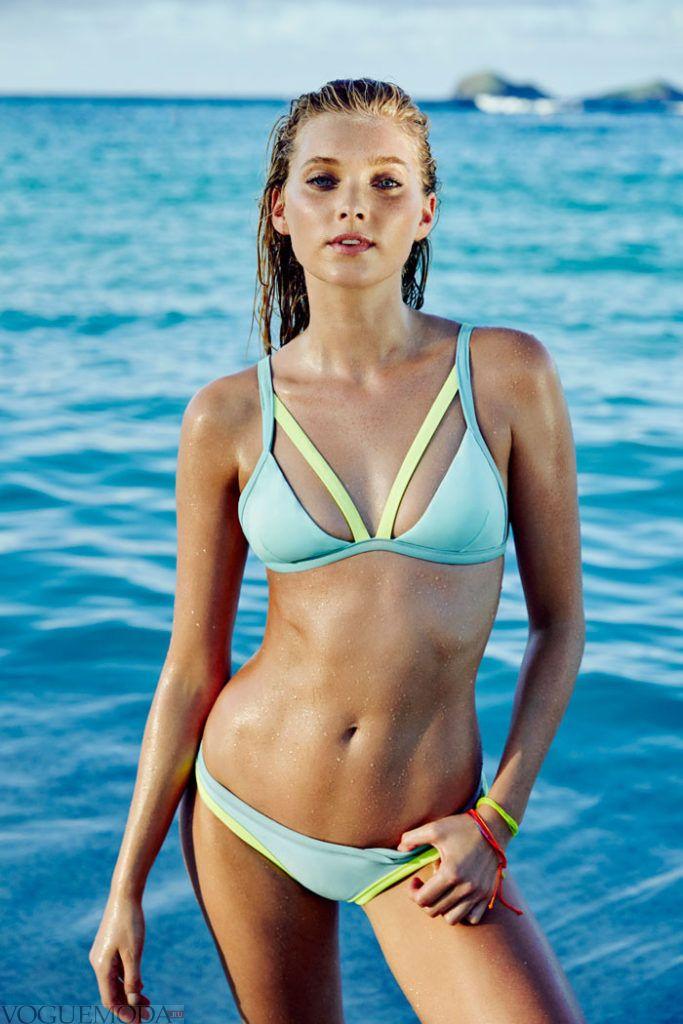 купальник бикини от Victoria's Secret голубой