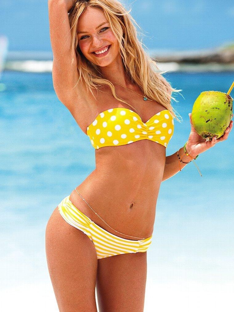 купальник «Бандо» от Victoria's Secret желтый