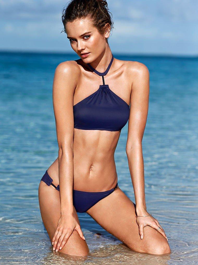 купальник в американском стиле от Victoria's Secret синий