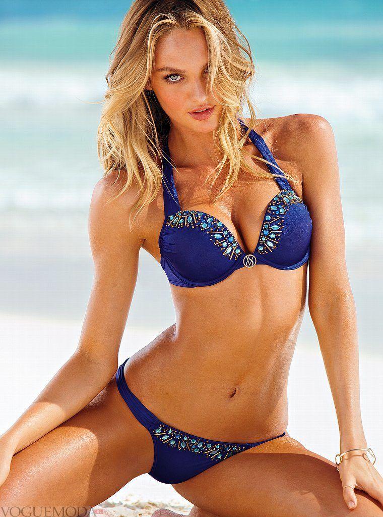 купальник «Хальтер» от Victoria's Secret синий