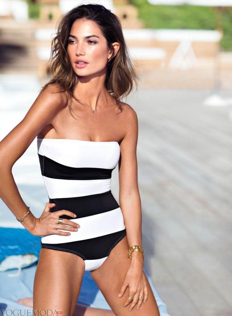 слитный купальник от Victoria's Secret полосатый