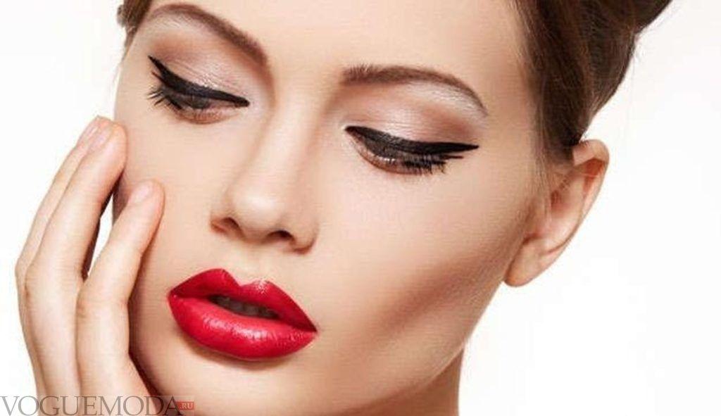 летний макияж Apple Red модный