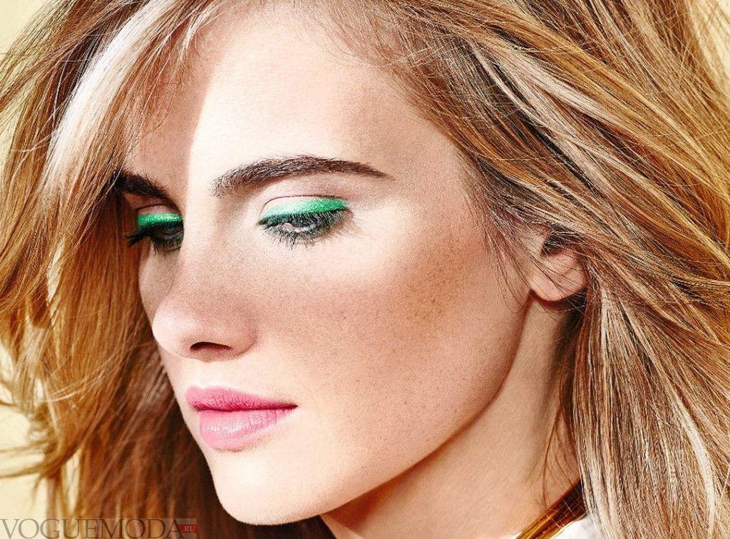 летний макияж зеленые веки