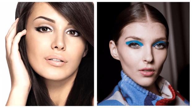 летний макияж разные подводки нижнего века