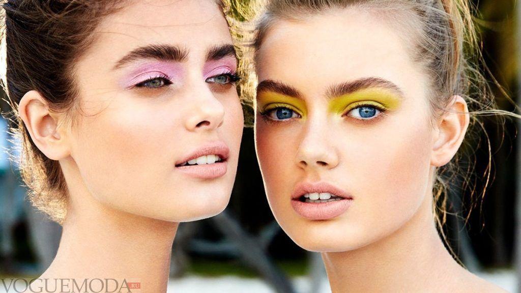 летний макияж разноцветный