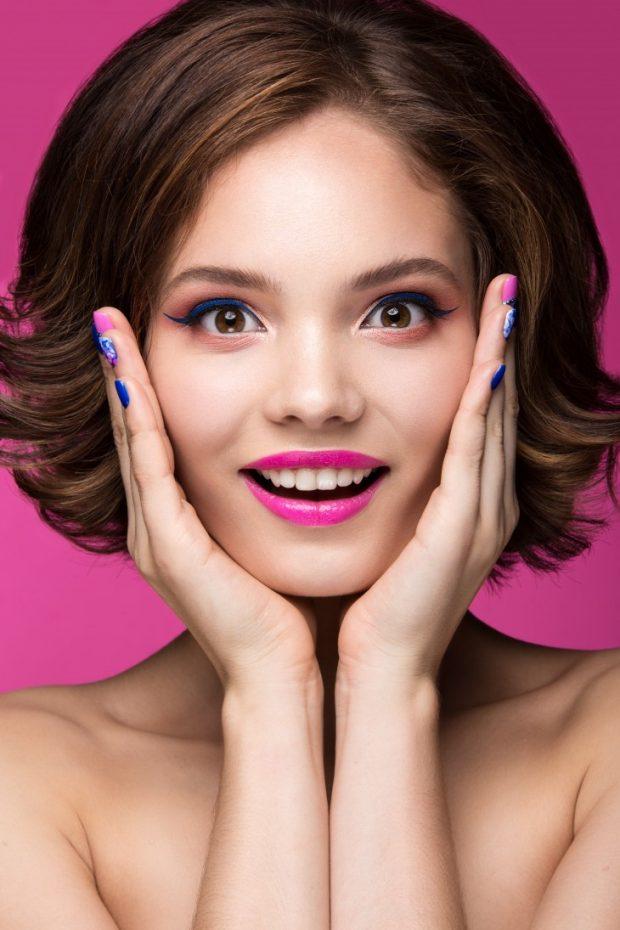 летний макияж цветной