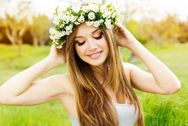 летний макияж для русых волос