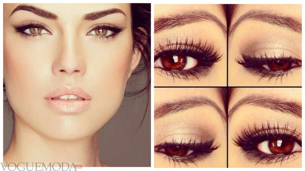 летний макияж для карих глаз