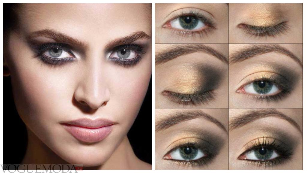 летний макияж для серых глаз