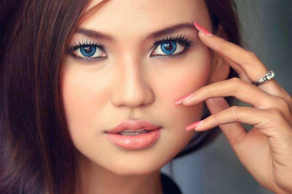 макияж для почти синих глаз натуральный