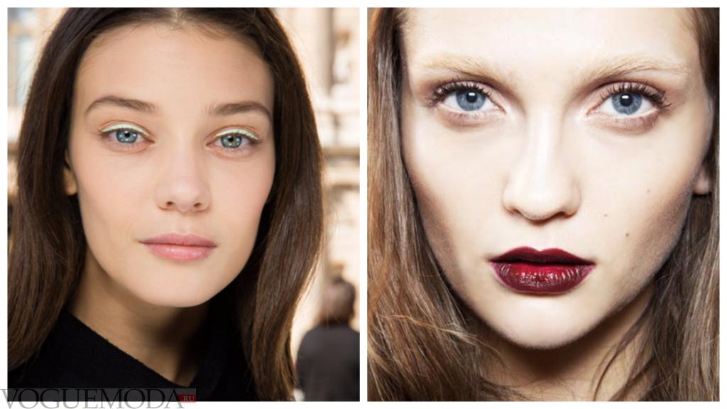 макияж для голубого цвета глаз разный