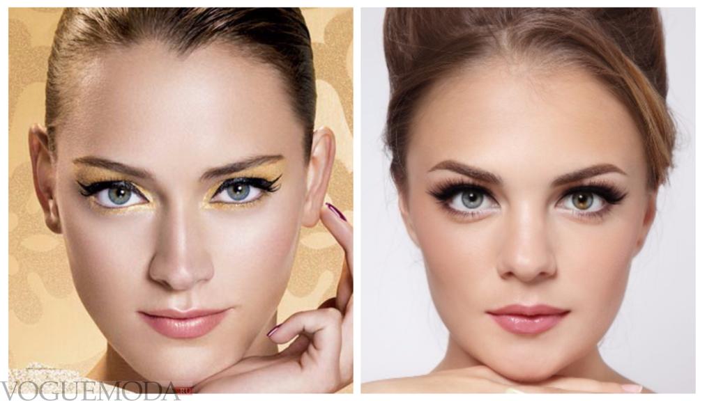 макияж для серо-голубых глаз разный